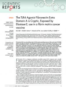 The TLR4 Agonist Fibronectin Extra Domain A is ... - Semantic Scholar