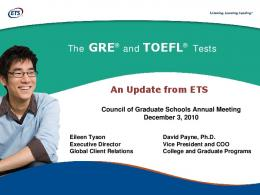 The TOEFL® Test - Council of Graduate Schools