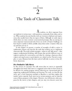 The Tools of Classroom Talk - Math Solutions