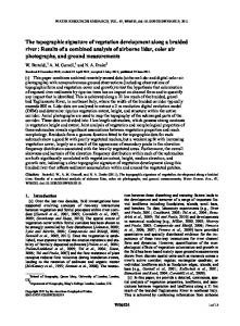 The topographic signature of vegetation ... - Wiley Online Library