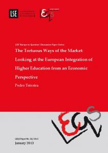 The Tortuous Ways of the Market: Looking at the European ...