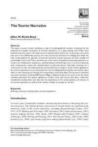 The Tourist Narrative - SAGE Journals - Sage Publications