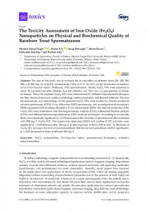 The Toxicity Assessment of Iron Oxide (Fe3O4) - MDPI