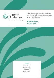 The trade system and climate action: ways ... - Climate Strategies