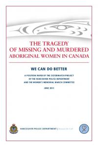 The Tragedy of Missing and Murdered Aboriginal Women in Canada