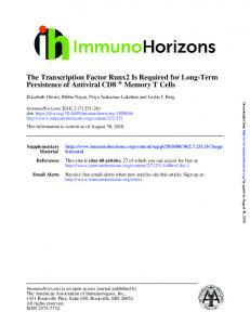 The Transcription Factor Runx2 Is Required for ... - ImmunoHorizons
