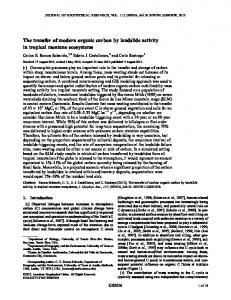 The transfer of modern organic carbon by ... - Wiley Online Library