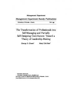 The Transformation of Professionals into Self ...