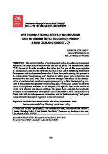 the transnational state, neoliberalism and environmental ... - Core