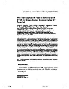 The Transport and Fate of Ethanol and BTEX in Groundwater ...