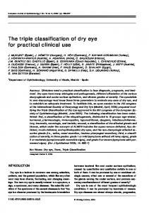 The triple classification of dry eye for practical