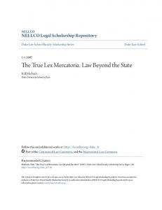 The True Lex Mercatoria: Law Beyond the State - NELLCO Legal ...