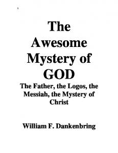 The True Nature and Mystery of GOD - Triumphpro.info