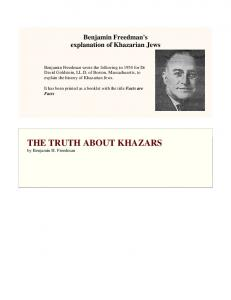THE TRUTH ABOUT KHAZARS - Sons of Ra Ministries