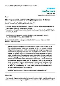 The Trypanocidal Activity of Naphthoquinones: A Review - CiteSeerX