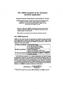 The TSRM Approach in the Document Retrieval Application*