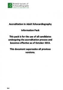 the TTE Accreditation pack which applies to candidates who wish to ...