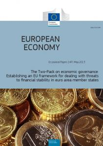 The Two-Pack on economic governance