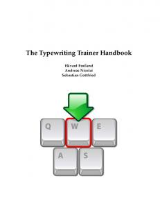 The Typewriting Trainer Handbook - KDE Documentation