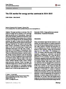 The UK market for energy service contracts in ... - Semantic Scholar