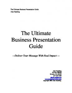 The Ultimate Business Presentation Guide