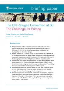 The UN Refugee Convention at 60: The Challenge ... - Chatham House