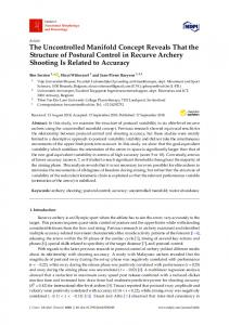 The Uncontrolled Manifold Concept Reveals That the Structure ... - MDPI