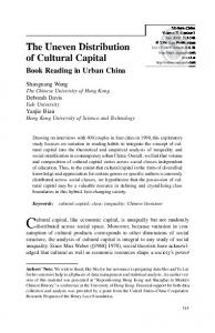 The Uneven Distribution of Cultural Capital - CUHK