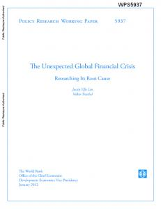 The Unexpected Global Financial Crisis