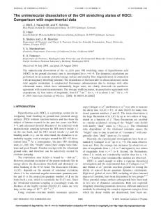 The unimolecular dissociation of the OH stretching states of HOCl ...