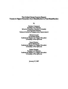 The United States Country Report: Trends in Higher Education from ...