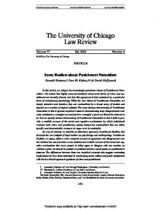 The University of Chicago Law Review - SSRN papers