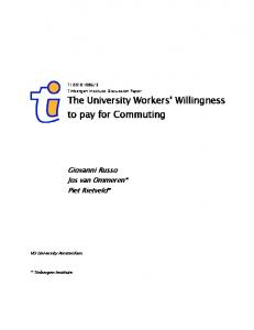 The University Workers' Willingness to pay for ... - Tinbergen Institute