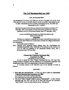 The U.P. Panchayat Raj Act, 1947