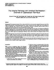 The Urachal Pathology with Umbilical Manifestation: Overview of ...