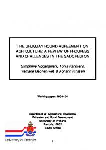 THE URUGUAY ROUND AGREEMENT ON ... - AgEcon Search