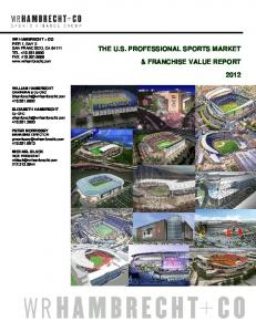 the us professional sports market & franchise value report 2012