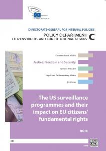 The US surveillance programmes and their impact on EU citizens ...