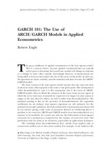 The Use of ARCH/GARCH Models in Applied Econometrics