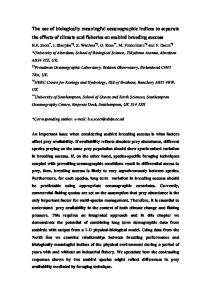 The use of biologically meaningful oceanographic indices to separate ...