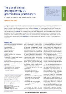 The use of clinical photography by UK general dental ... - Nature