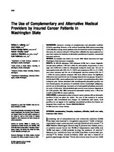 The use of complementary and alternative ... - Wiley Online Library