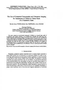 The Use of Computed Tomography and Ultrasonic Imaging for ...