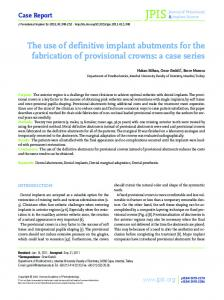 The use of definitive implant abutments for the fabrication of