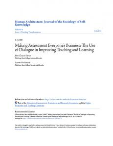 The Use of Dialogue in Improving Teaching and Learning