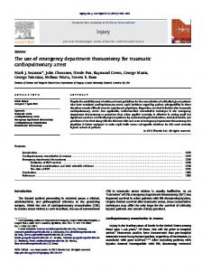 The use of emergency department thoracotomy for ... - emergpa