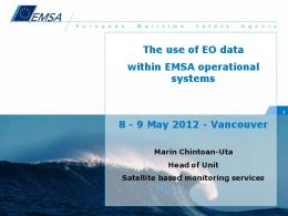 The use of EO data within EMSA operational systems