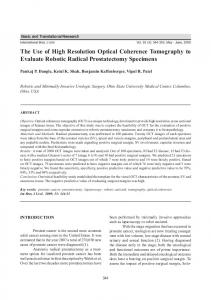 The Use of High Resolution Optical Coherence Tomography to ...