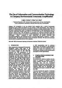 The Use of Information and Communication Technology in Company ...