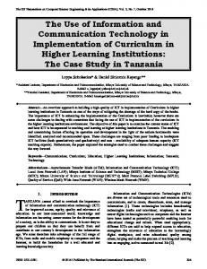 The Use of Information and Communication Technology in ...